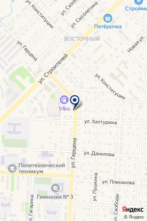 АЗС ПОПОВА И.В. на карте Кудымкара