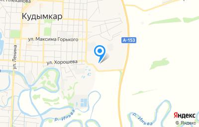 Местоположение на карте пункта техосмотра по адресу Пермский край, г Кудымкар, ул Хорошева, д 100