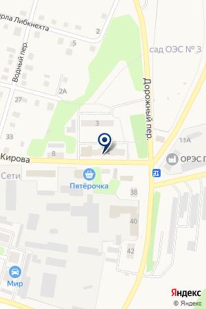 ОЧЕРСКАЯ ШКОЛА-ИНТЕРНАТ на карте Очера