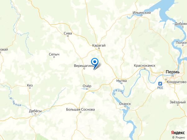 деревня Стрижи на карте