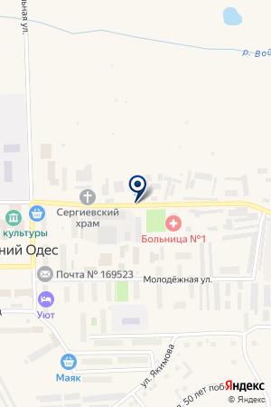 ГАЗОВОЕ ПРЕДПРИЯТИЕ КОМИРЕГИОНГАЗ на карте Сосногорска