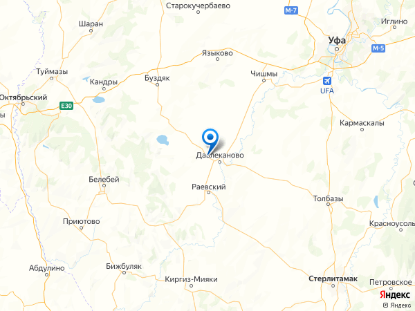 село Комсомольский на карте