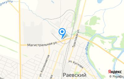 Местоположение на карте пункта техосмотра по адресу Респ Башкортостан, с Раевский, ул Победы, д 1