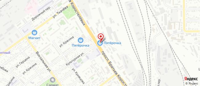 Карта расположения пункта доставки Билайн в городе Оренбург