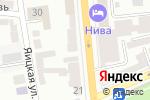 Схема проезда до компании Роза 25 в Оренбурге
