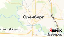 Отели города Оренбург на карте