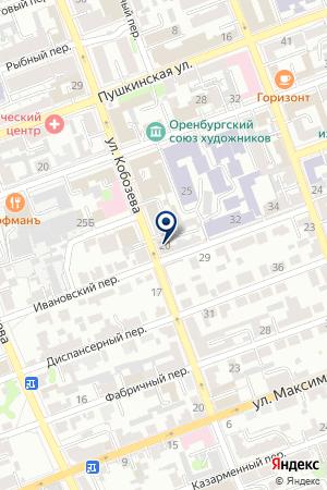 ЦАРМ на карте Оренбурга