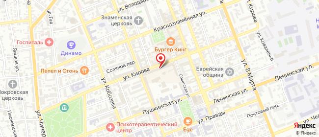 Карта расположения пункта доставки Оренбург Кирова в городе Оренбург