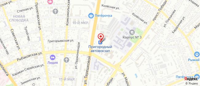 Карта расположения пункта доставки Ростелеком в городе Оренбург