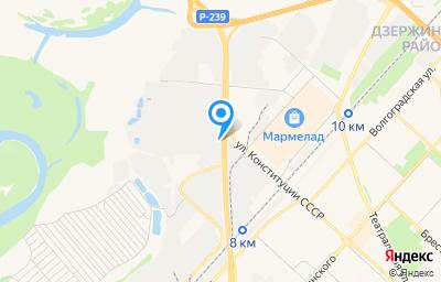 Местоположение на карте пункта техосмотра по адресу г Оренбург, ул Терешковой, д 287