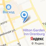 Мята на карте Оренбурга