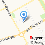 АКБ Связь-банк на карте Оренбурга