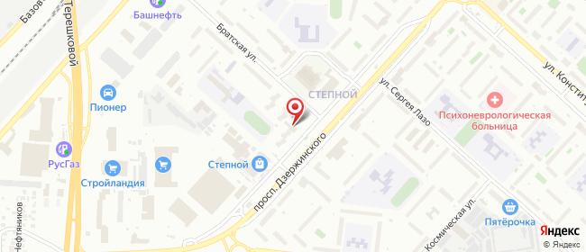 Карта расположения пункта доставки Оренбург Дзержинского в городе Оренбург