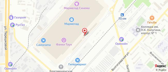 Карта расположения пункта доставки Курьерская компания Аванте в городе Оренбург
