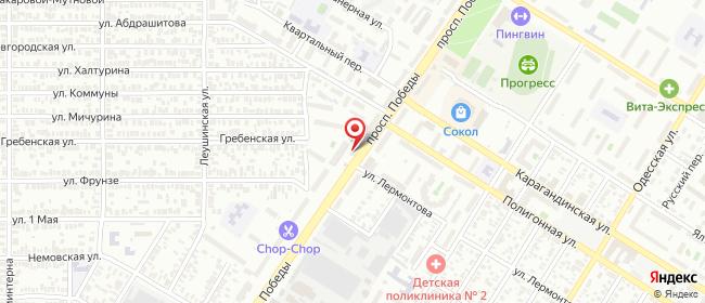 Карта расположения пункта доставки Оренбург Победы в городе Оренбург