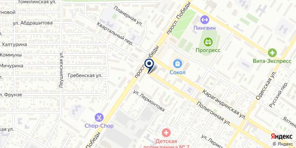 Продуктовый киоск на карте Оренбурге