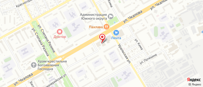 Карта расположения пункта доставки СИТИЛИНК в городе Оренбург