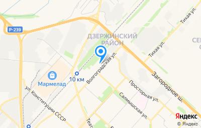 Местоположение на карте пункта техосмотра по адресу г Оренбург, ул Волгоградская, д 5