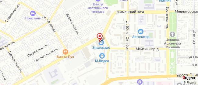 Карта расположения пункта доставки Оренбург Туркестанская в городе Оренбург