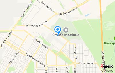 Местоположение на карте пункта техосмотра по адресу г Оренбург, ул Авторемонтная, д 5