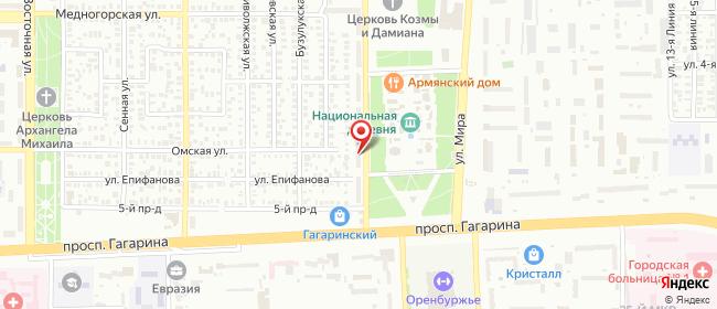 Карта расположения пункта доставки Оренбург Алтайская в городе Оренбург