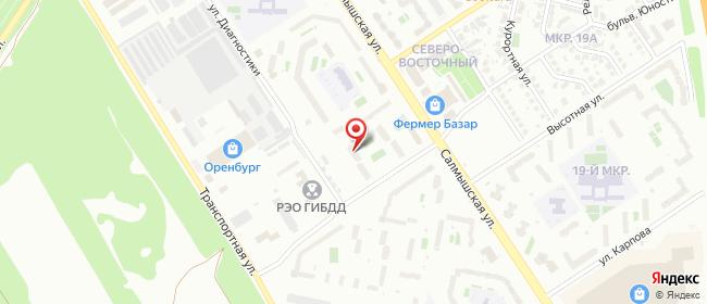 Карта расположения пункта доставки Оренбург Диагностики в городе Оренбург