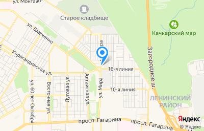 Местоположение на карте пункта техосмотра по адресу г Оренбург, ул Мира, д 28