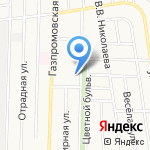 Ростоши на карте Оренбурга