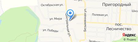 Администрация пос. Пригородный на карте Аэропорта