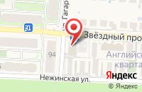 Схема проезда до компании Пятерочка в Пригородном