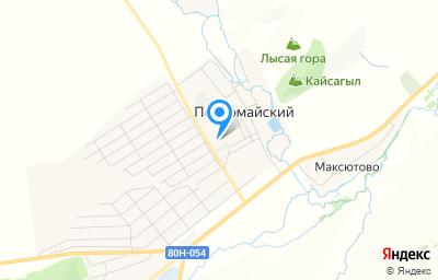 Местоположение на карте пункта техосмотра по адресу Респ Башкортостан, Стерлибашевский р-н, с Первомайский, ул Дружбы, д 1А к 4
