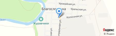 Администрация сельского совета с. Благословенка на карте Благословенки