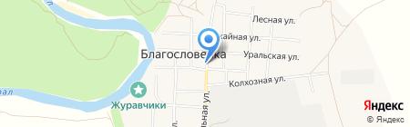 Людмила на карте Благословенки
