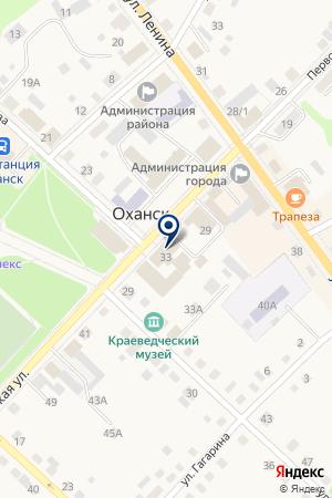 МАГАЗИН БЫТОВОЙ ТЕХНИКИ ЭЛЬДОРАДО на карте Оханска