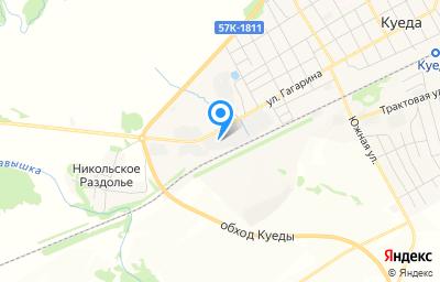 Местоположение на карте пункта техосмотра по адресу Пермский край, п Куеда, ул Гагарина, д 107Б