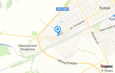 Местоположение на карте пункта техосмотра по адресу Пермский край, п Куеда, ул Гагарина, д 107