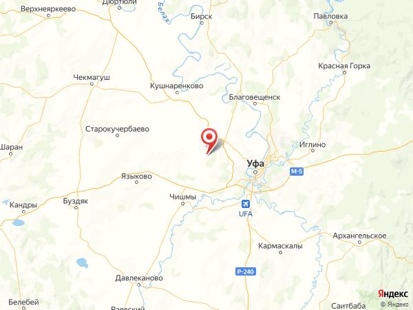 село Нурлино на карте
