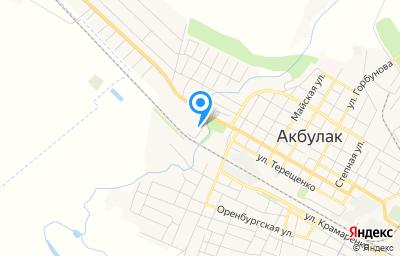 Местоположение на карте пункта техосмотра по адресу Оренбургская обл, п Акбулак, пер Белый, д 2А