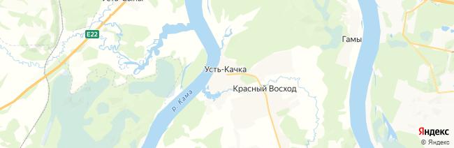 Усть-Качка на карте