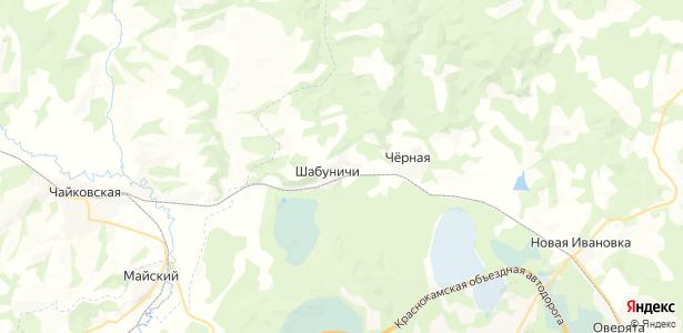 Шабуничи на карте