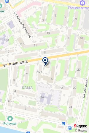 Эталон на карте Краснокамска