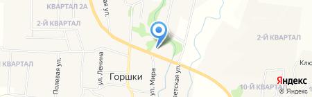 Сеть продуктовых магазинов на карте Горшков