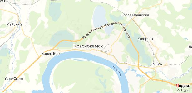 Краснокамск на карте
