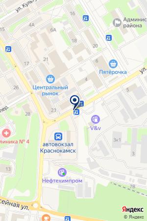 АГЗС ГРУППА ПРОГРЕСС на карте Краснокамска