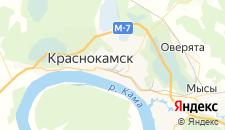 Отели города Краснокамск на карте