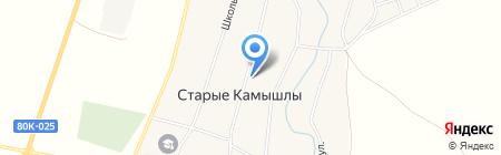Центральный на карте Старых Камышл