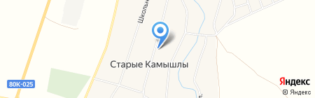 Почтовое отделение с. Старые Камышлы на карте Старых Камышл