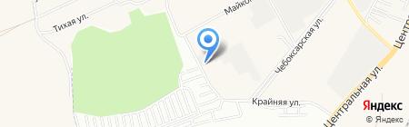 Уральская картонная мануфактура на карте Уфы