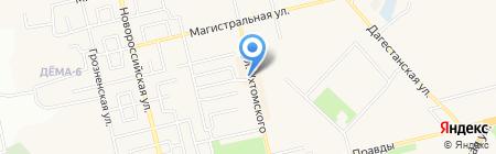 Авдон на карте Уфы