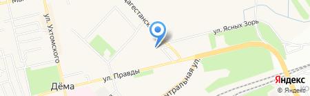 Серебряный ручей на карте Уфы